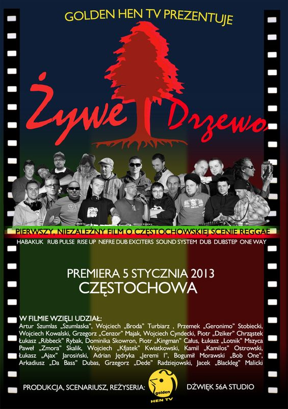 Plakat oficjalny - Żywe drzewo 2012 byGolden Hen